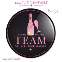 Badge EVJF Champagne Team