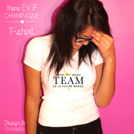 T-shirt EVJF Champagne Team
