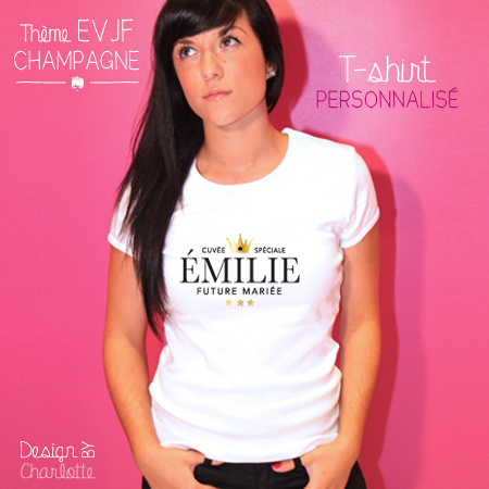 Favorit T-shirt EVJF Champagne Mariée à personnaliser - Stickers Malin IP86