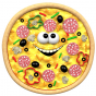 Stickers aliment pizza 1