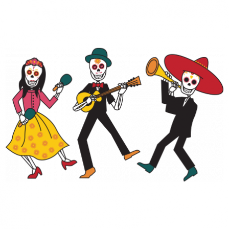 Stickers musiciens des morts