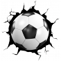 Stickers Ballon football 1