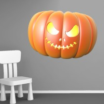Stickers Halloween citrouille 1