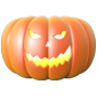 Stickers Halloween citrouille 7
