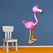 Stickers Flamant rose 1