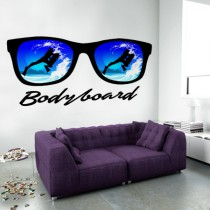 Stickers lunette et bodyboard