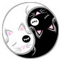 Stickers chat yin yang