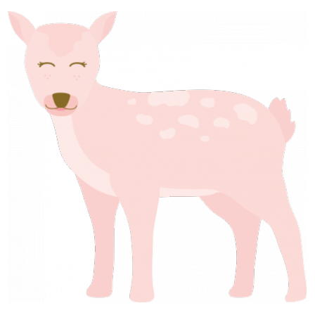 Stickers Animal - Biche