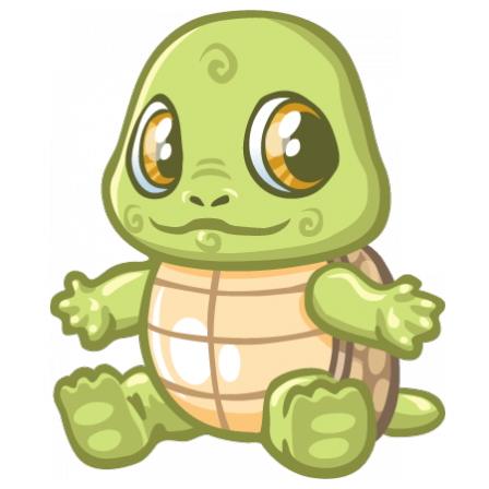 Stickers Bébé tortue