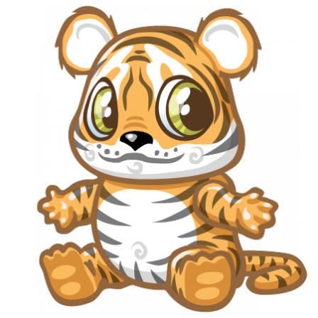Stickers Bébé tigre