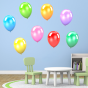 Stickers Ballons multicolores 1