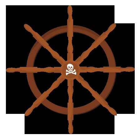 stickers barre du bateau pirate stickers malin. Black Bedroom Furniture Sets. Home Design Ideas