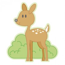 Stickers bébé biche