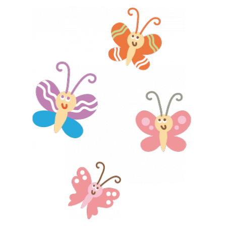 Stickers papillons 1