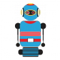 Stickers robot 4