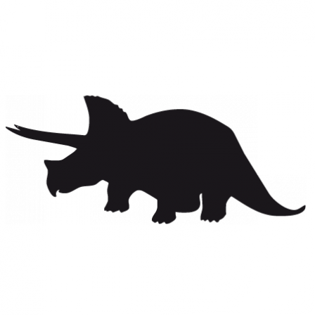 Stickers silhouette dino 4 triceratops