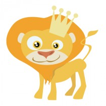 Stickers lion roi