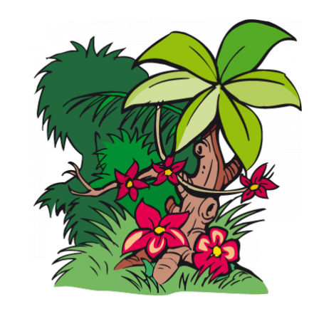 Stickers v g tation jungle stickers malin - Dessin vegetation ...