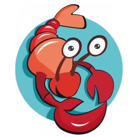 Stickers homard rigolo