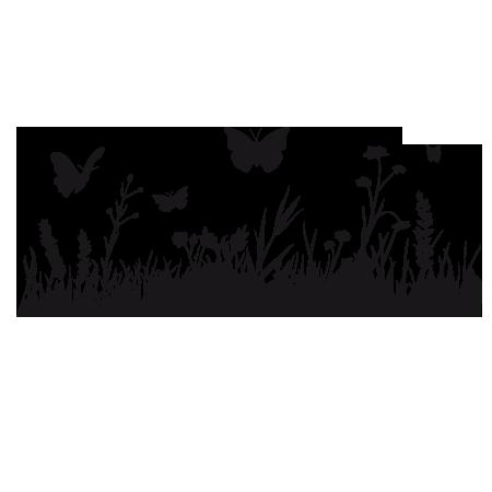 Stickers herbe et papillon - Stickers Malin