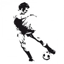 Stickers footballeur 1
