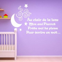 Stickers Au clair de la lune
