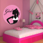 Stickers cercle girl