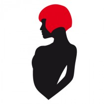 Stickers femme cheveux rouge