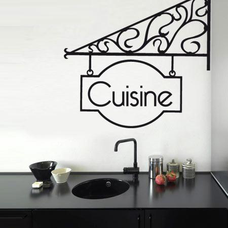 Stickers accroche cuisine stickers malin for Stickers pour cuisine rouge