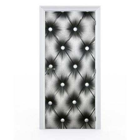 stickers porte capitonnage noir stickers malin. Black Bedroom Furniture Sets. Home Design Ideas