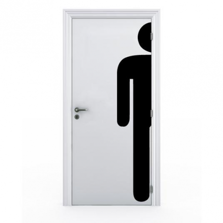 Stickers porte toilette homme stickers malin for Stickers pour porte toilettes