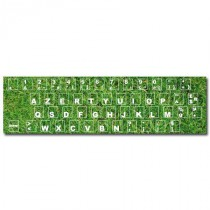 Stickers clavier herbe