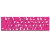 Stickers clavier rose floral