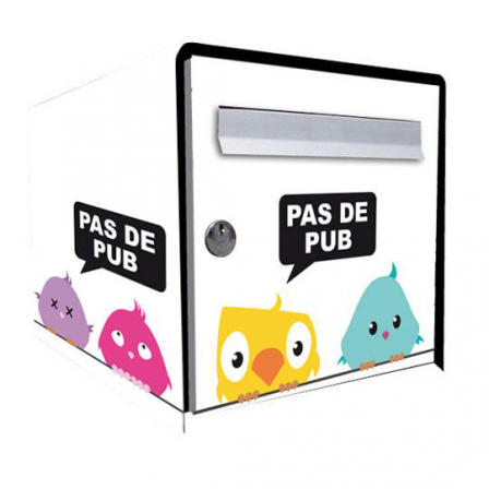 stickers bo te aux lettres bird stickers malin. Black Bedroom Furniture Sets. Home Design Ideas