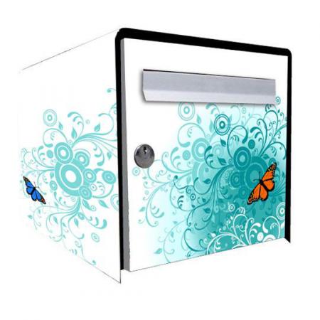 stickers bo te aux lettres papillon stickers malin. Black Bedroom Furniture Sets. Home Design Ideas