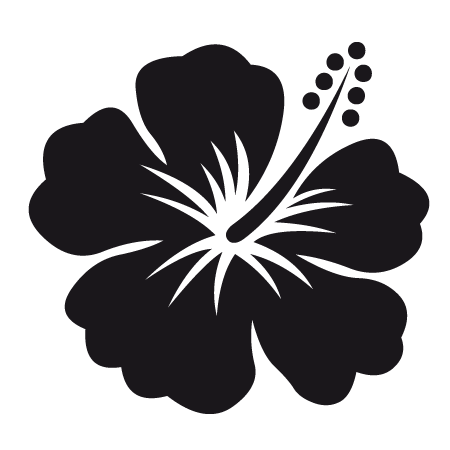 Stickers fleur hibiscus stickers malin - Fleur d hibiscus dessin ...