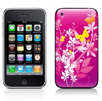 Stickers iPhone papillon rose