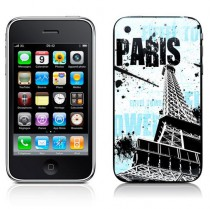 Stickers iPhone Paris turquoise