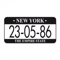 Stickers New York plaque personnalisable