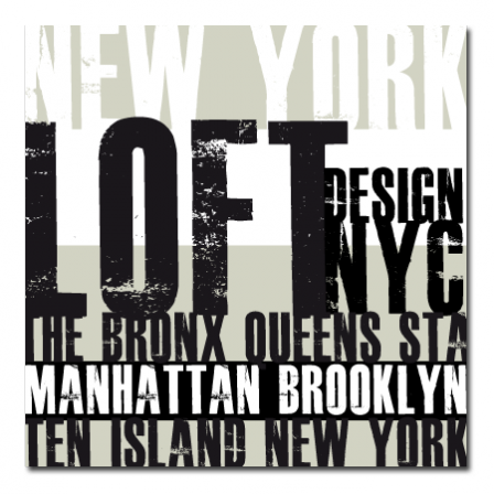 tableau d 233 co new york typo taupe stickers malin