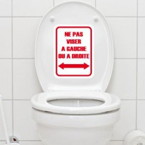 Stickers WC Ne pas viser