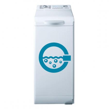 Stickers lave linge hublot stickers malin for Hublot porte salle de bain