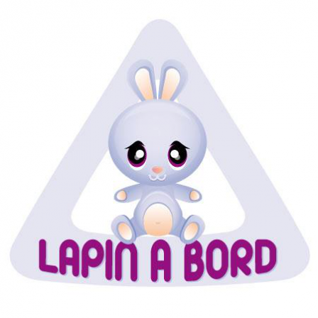 Stickers lapin bord stickers malin - Tableau velleda a coller ...