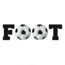 Stickers Typo Foot et ballon