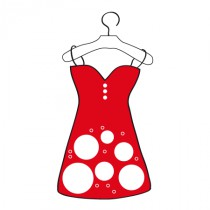 Stickers Robe rouge sur cintre