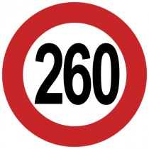 Stickers 260 km/h
