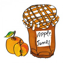 Stickers Confiture apple