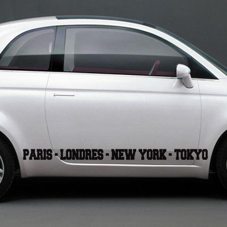 stickers paris londres new york tokyo stickers malin. Black Bedroom Furniture Sets. Home Design Ideas