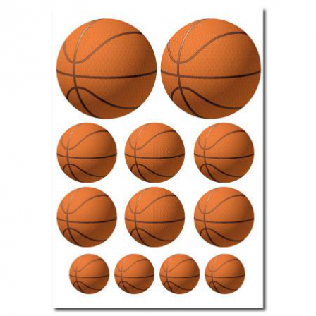 f1a071dae1b4e Stickers Gommettes Ballon Basket - Stickers Malin