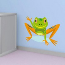 Stickers grenouille exotique